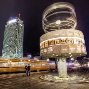 World Time Clock on Berlin Alexanderplatz, Germany