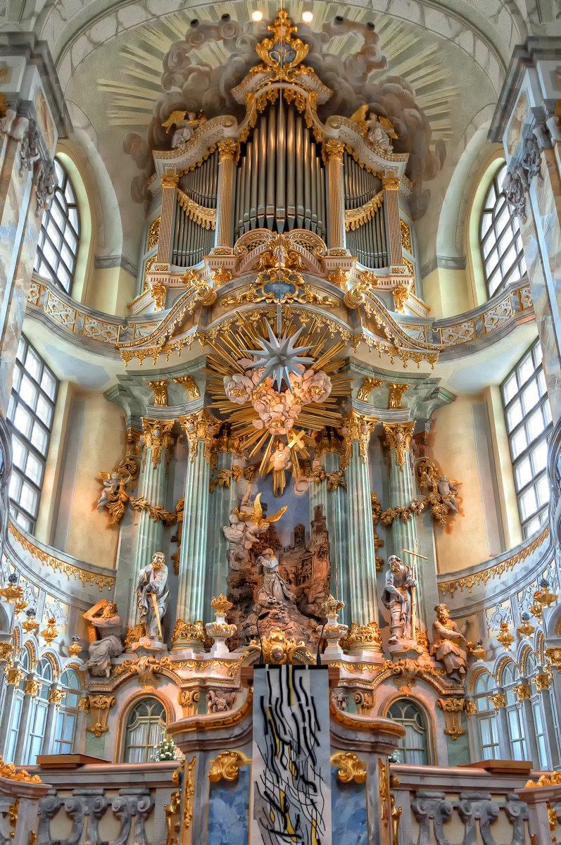 Altaarstuk van de Frauenkirche Dresden in Duitsland