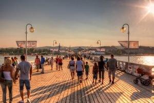 Pier Molo in Sopot op een zonnige dag