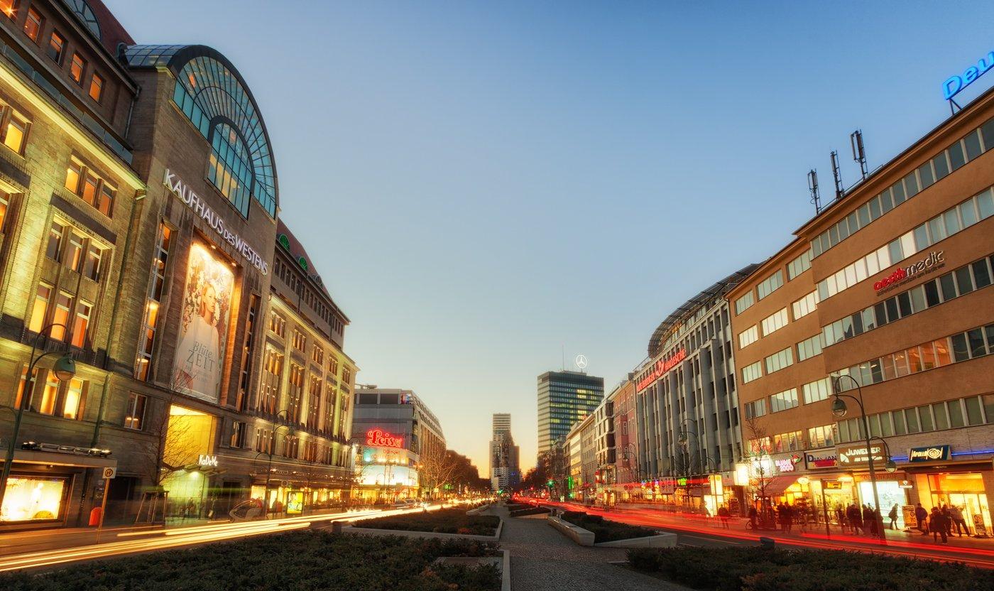 Berlijn Stad West Kurfürstendamm en KaDeWe