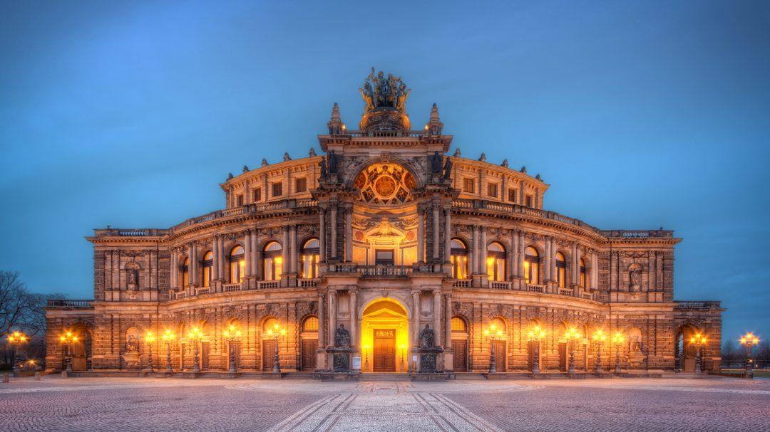 Semperoper Opera House in Dresden exterior