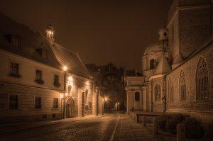 Kathedraal eiland Ostrów Tumski in Wroclaw, Polen