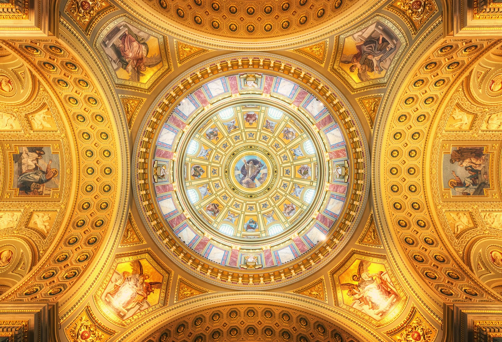 Cupola of the St. Stephens Basilica in Budapest