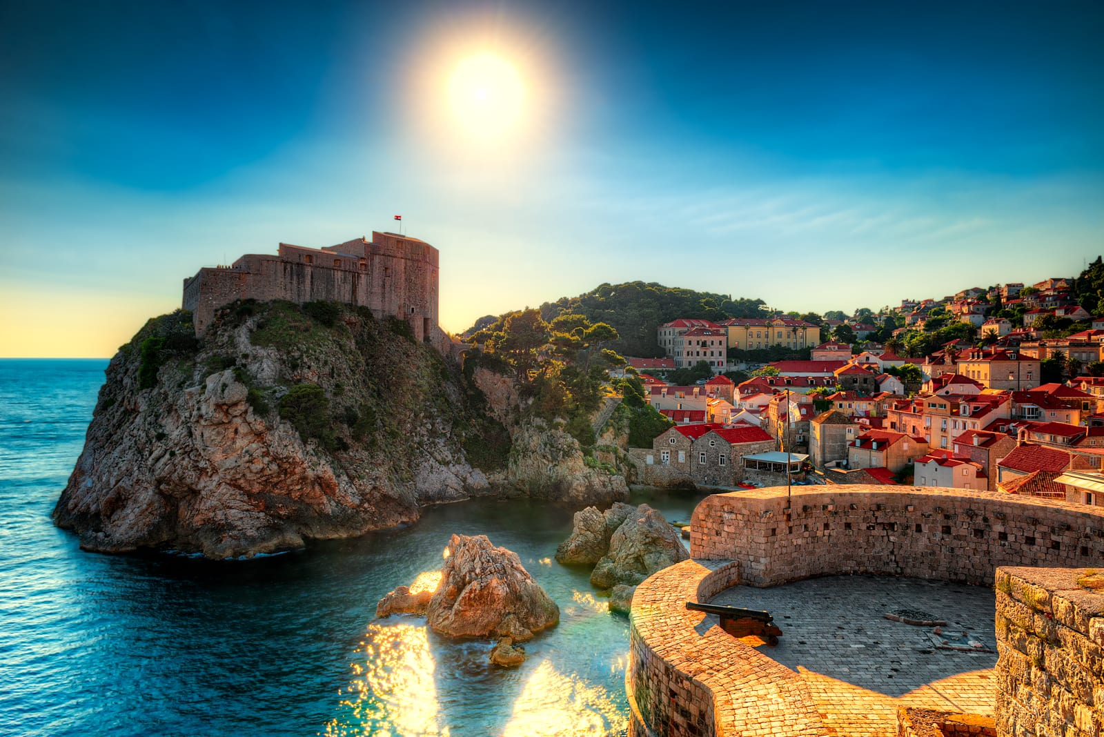Town Wall and King's Landing in Dubrovnik, Croatia