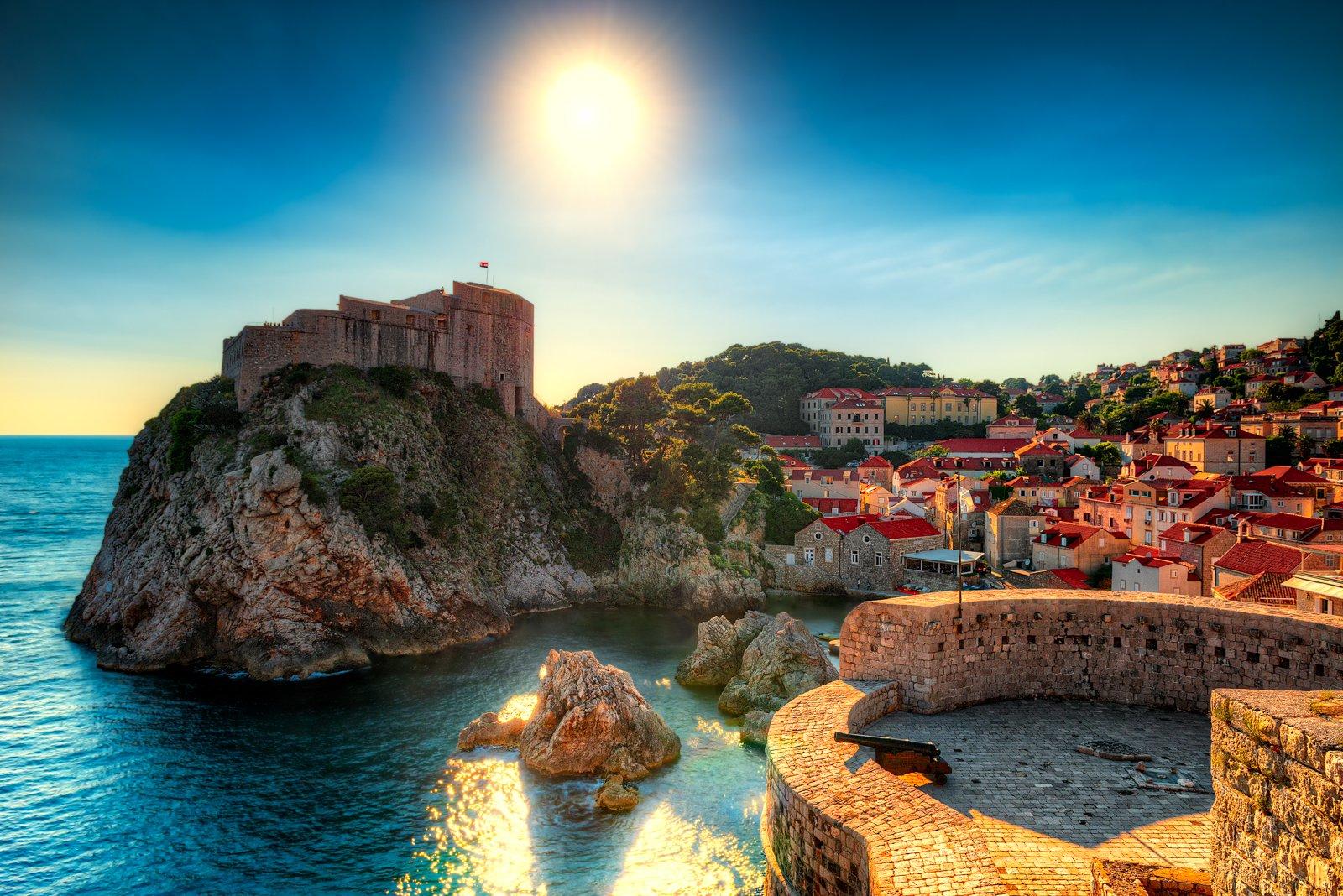 Stadsmuren en King's Landing in Dubrovnik, Kroatië