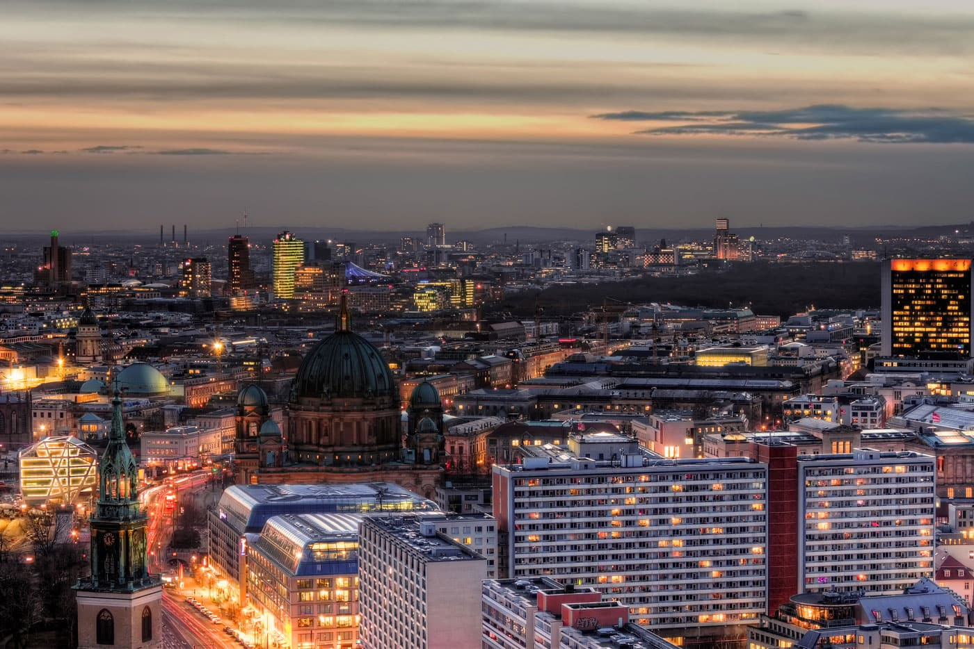 Berlin Skyline with Berlin Cathedral