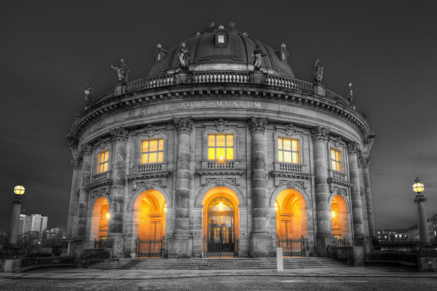 Bode-Museum in Berlin in Black and White