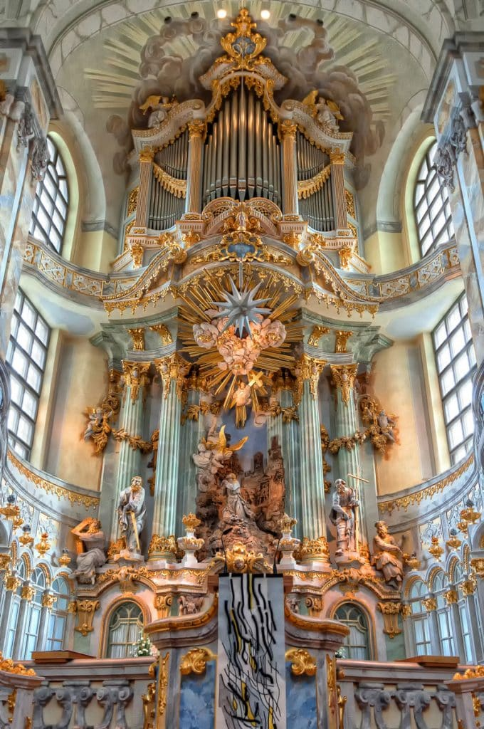 Altarpiece of the Dresden Frauenkirche in Germany