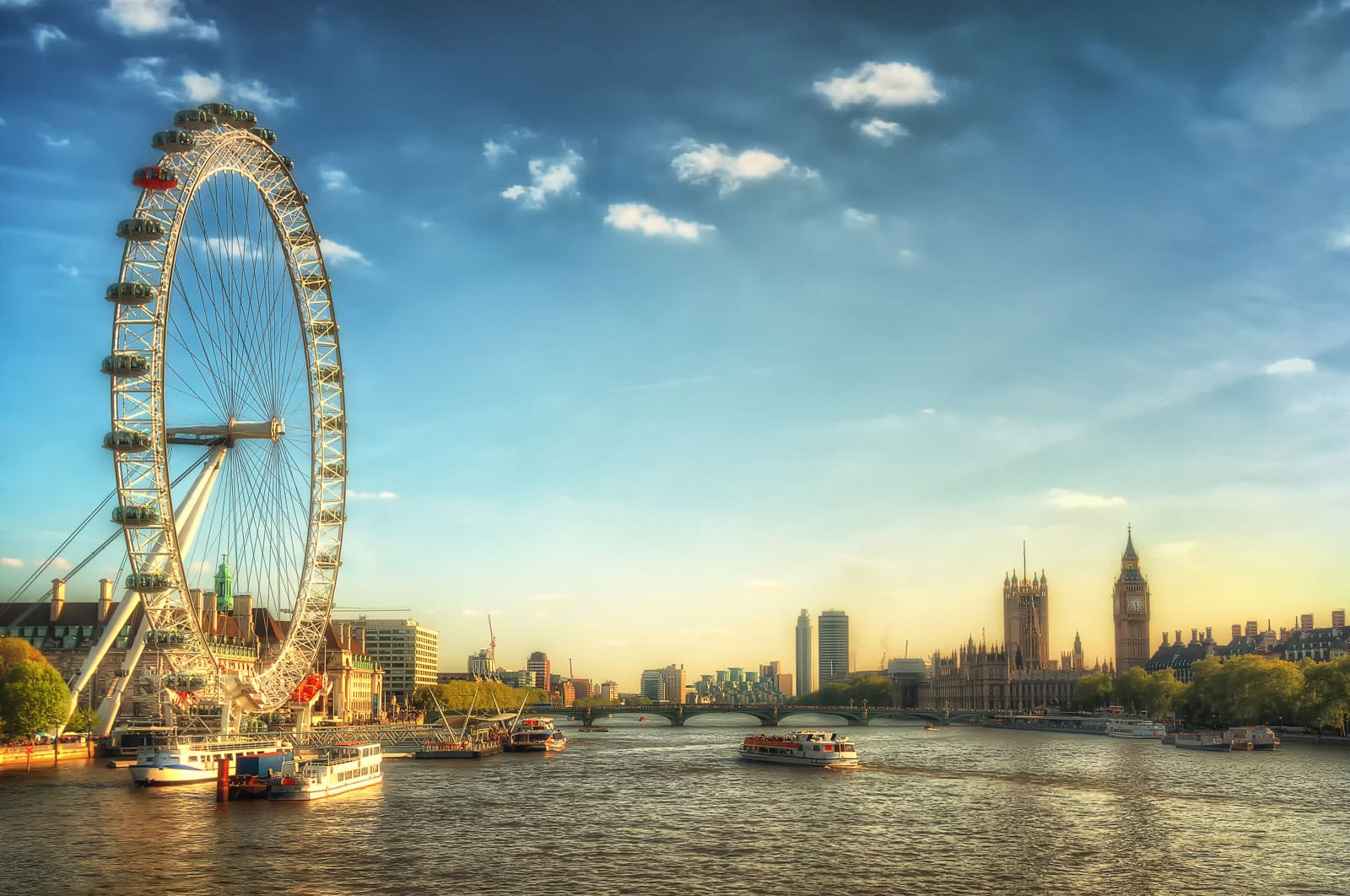 London Eye und Westminster | England