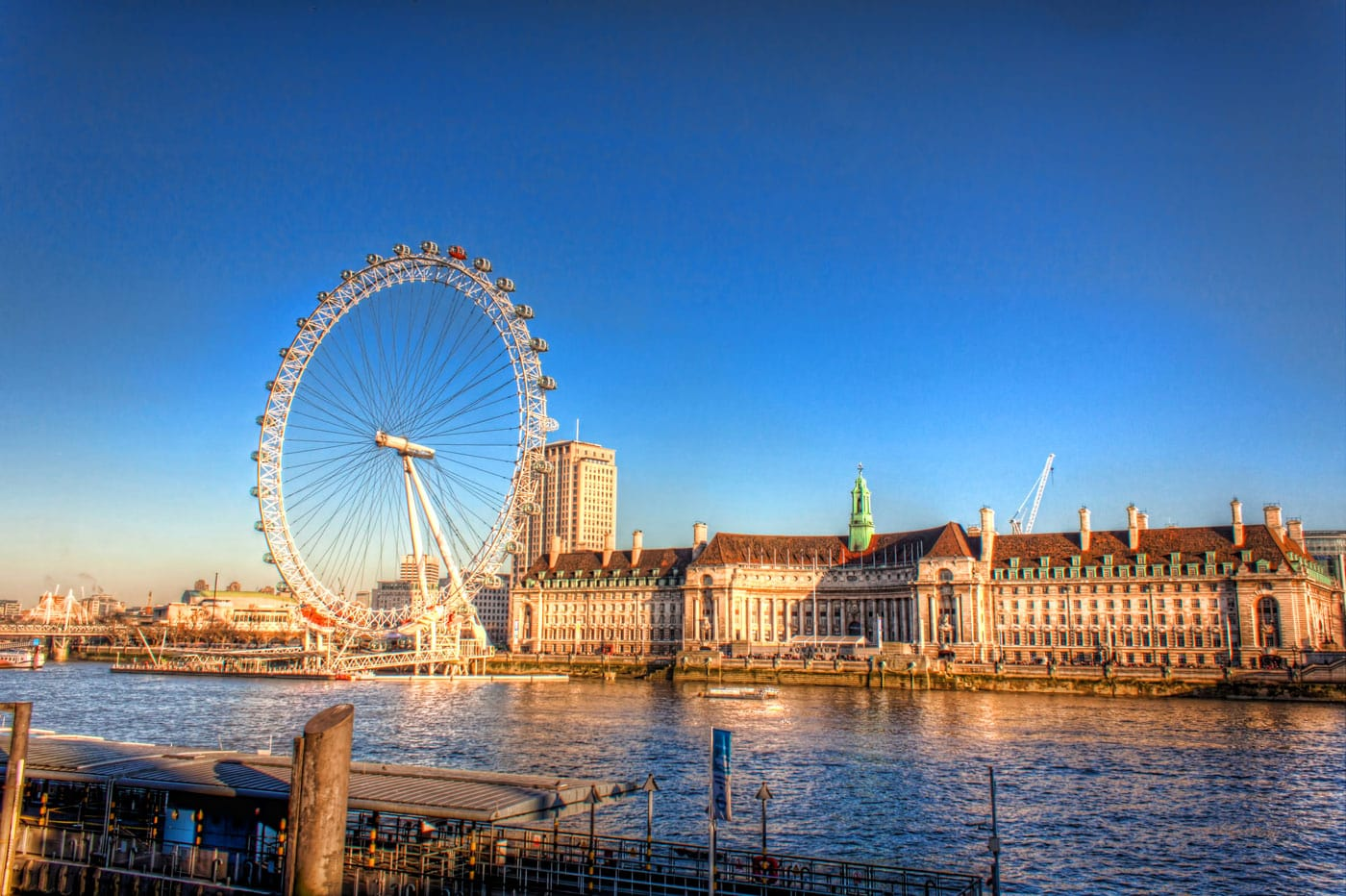 London Eye on a Sunny Day in Winter | England