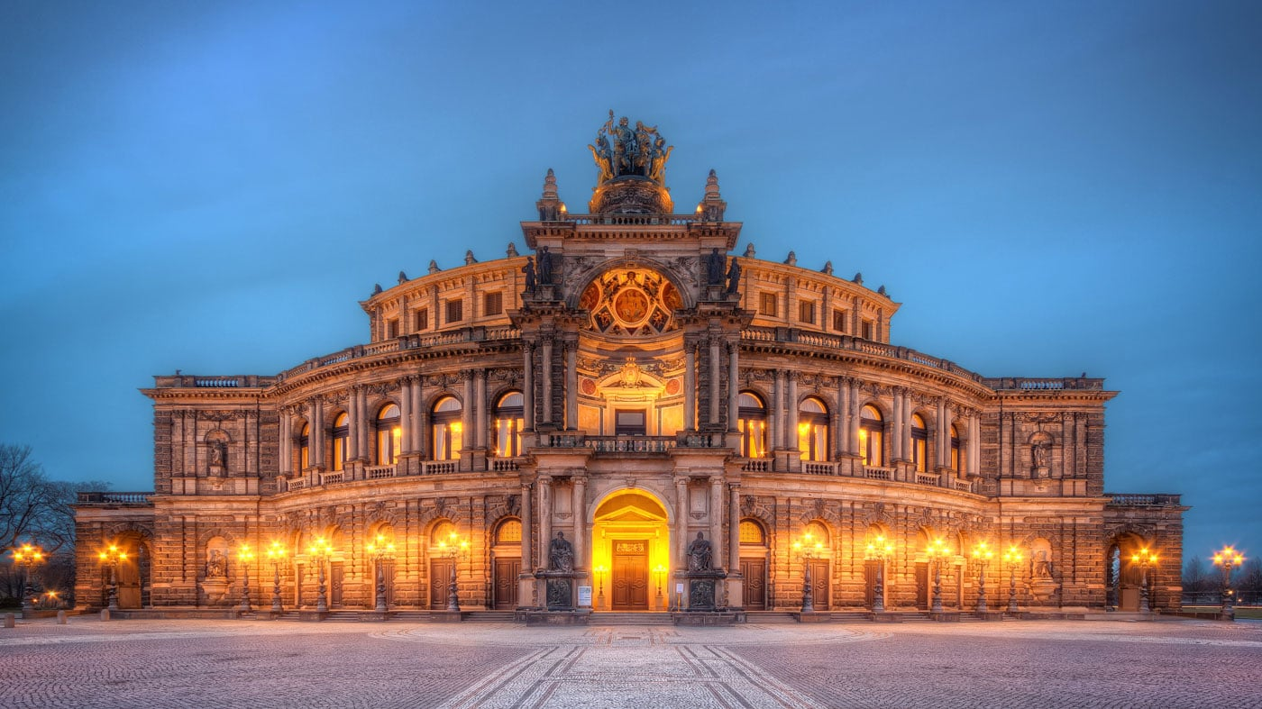 Semperoper Opera House in Dresden exterior