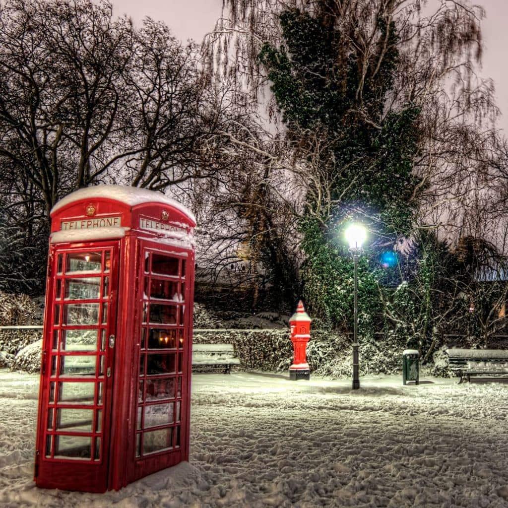 Snow at Greenwich Promenade in Berlin, Germany