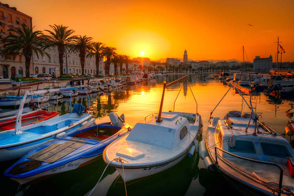 Port or Harbour in Split, Croatia