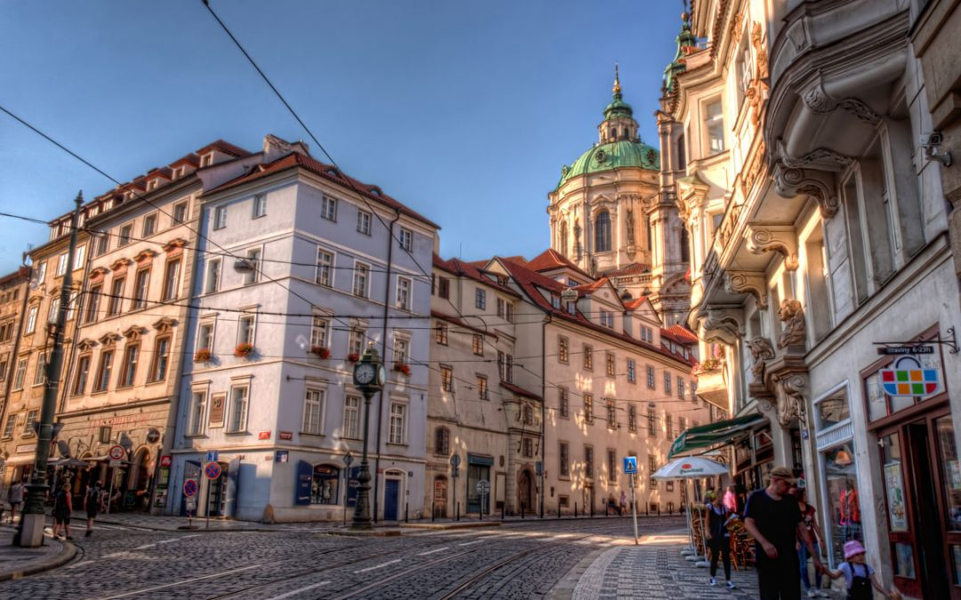 St Nicholas Cathedral from Karmelitska Street | Prague, Czech Republic