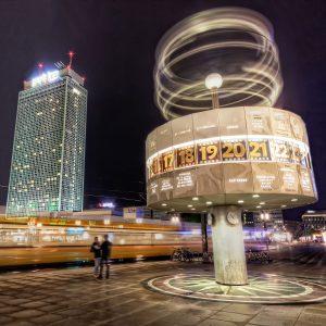 World Time Clock on Berlin Alexanderplatz, Germany