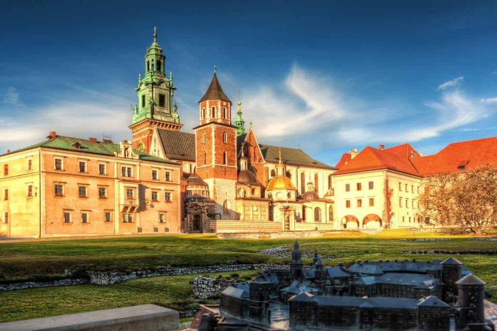 Wawel Kathedrale in der Burg in Krakau