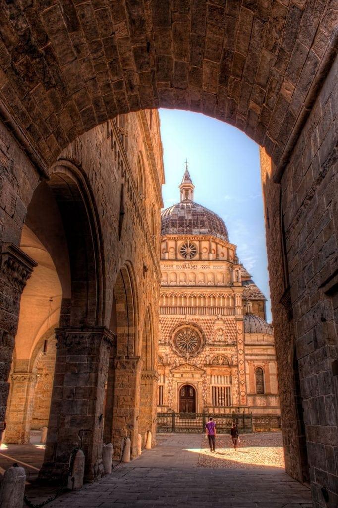 Basilica of Santa Maria Maggiore in Bergamo, Italy