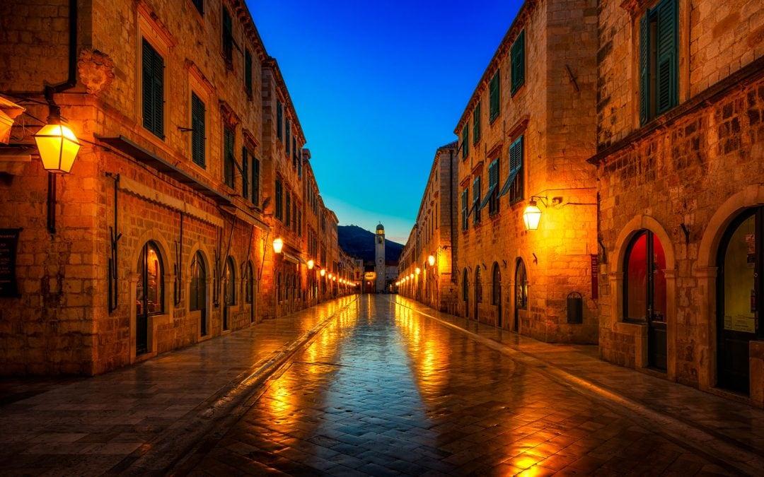Dubrovnik at night | Dubrovnik, Croatia