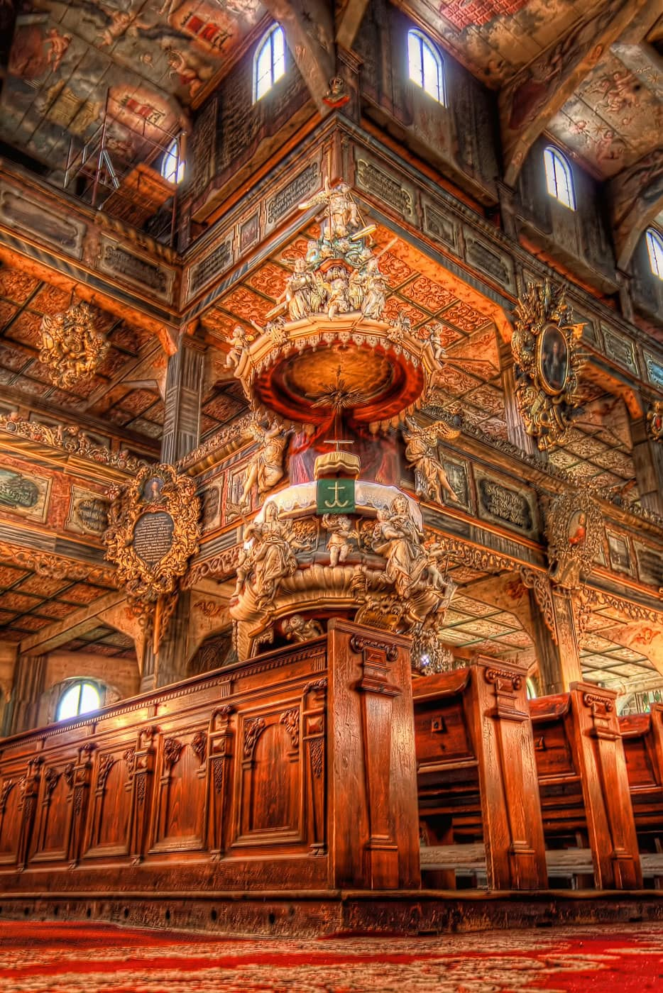 Church of Peace interior in Świdnica, Poland