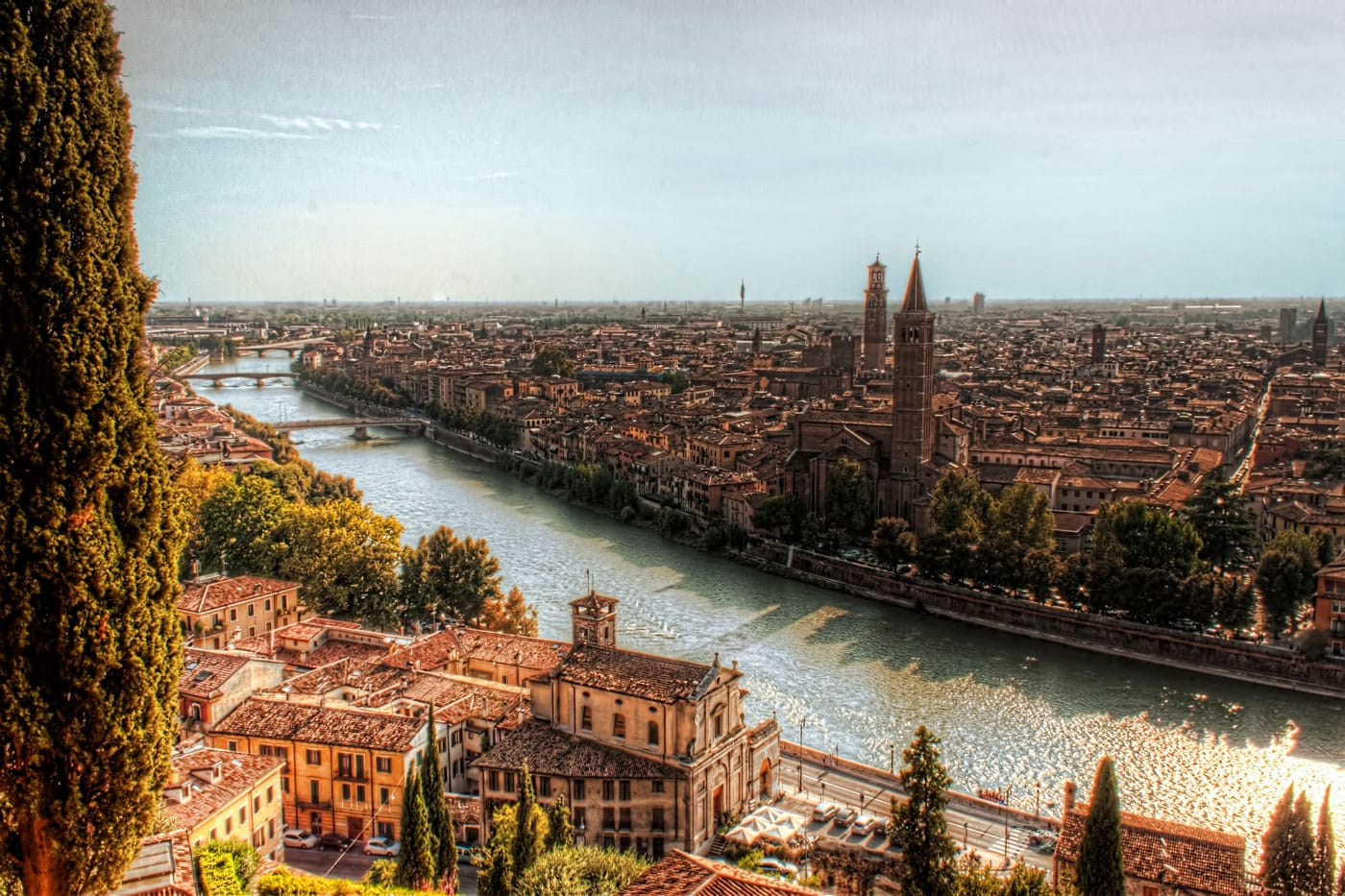 Verona Skyline vom Castel San Pietro