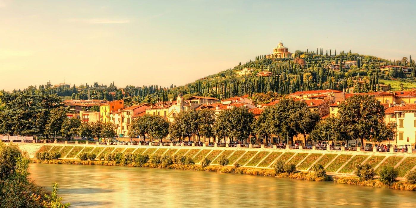 Landschaft in Verona, Italien