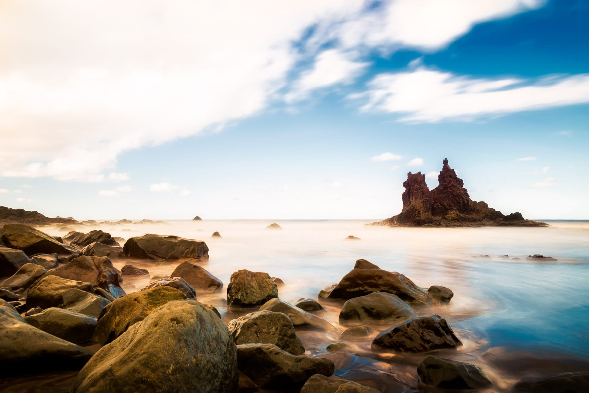 Benijo Beach, Tenerife – day on the black sand while observing ocean's waves.