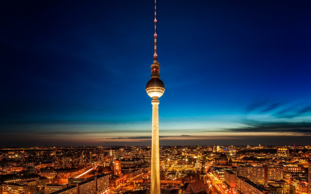 TV Tower at Night from from Park Inn by Radisson | Berlin, Germany