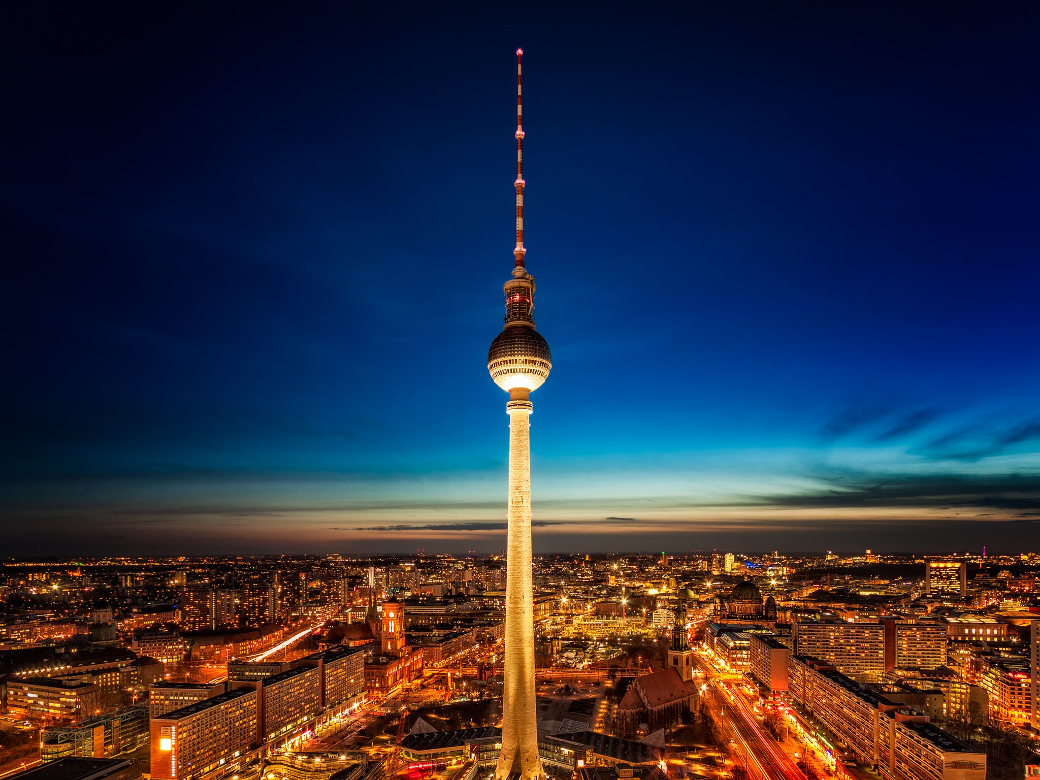 The TV Tower of Berlin captured from Park Inn by Radisson Hotel.