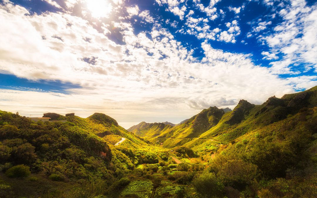 Sunny day in Anaga Mountains in Tenerife, Spain