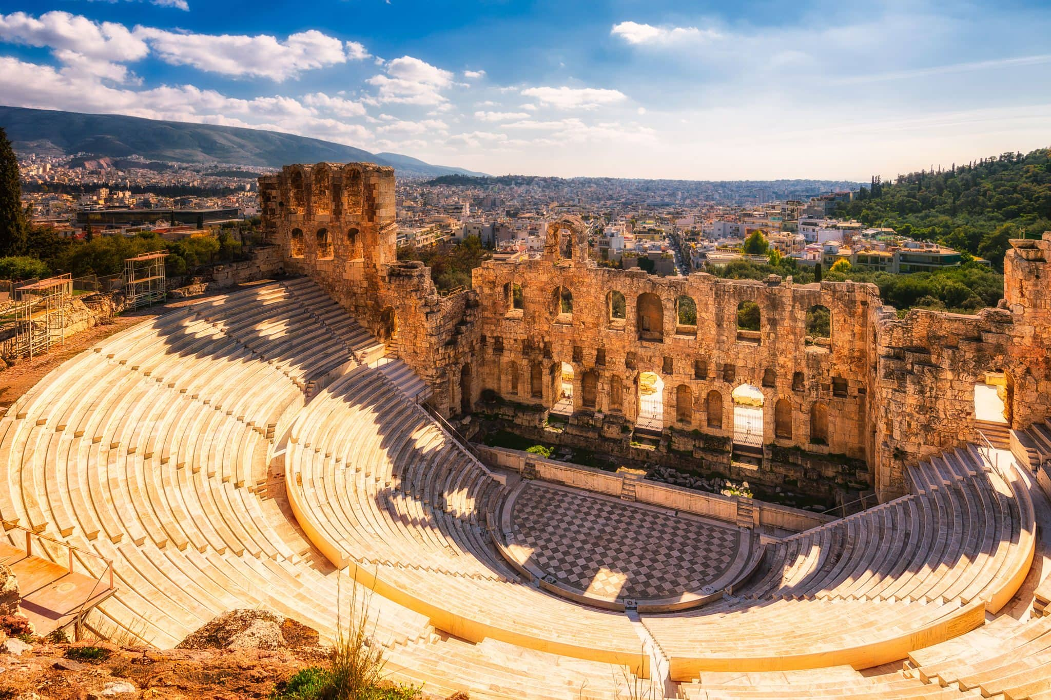 Odeon of Herodes Atticus on Acropolis hill in Athens