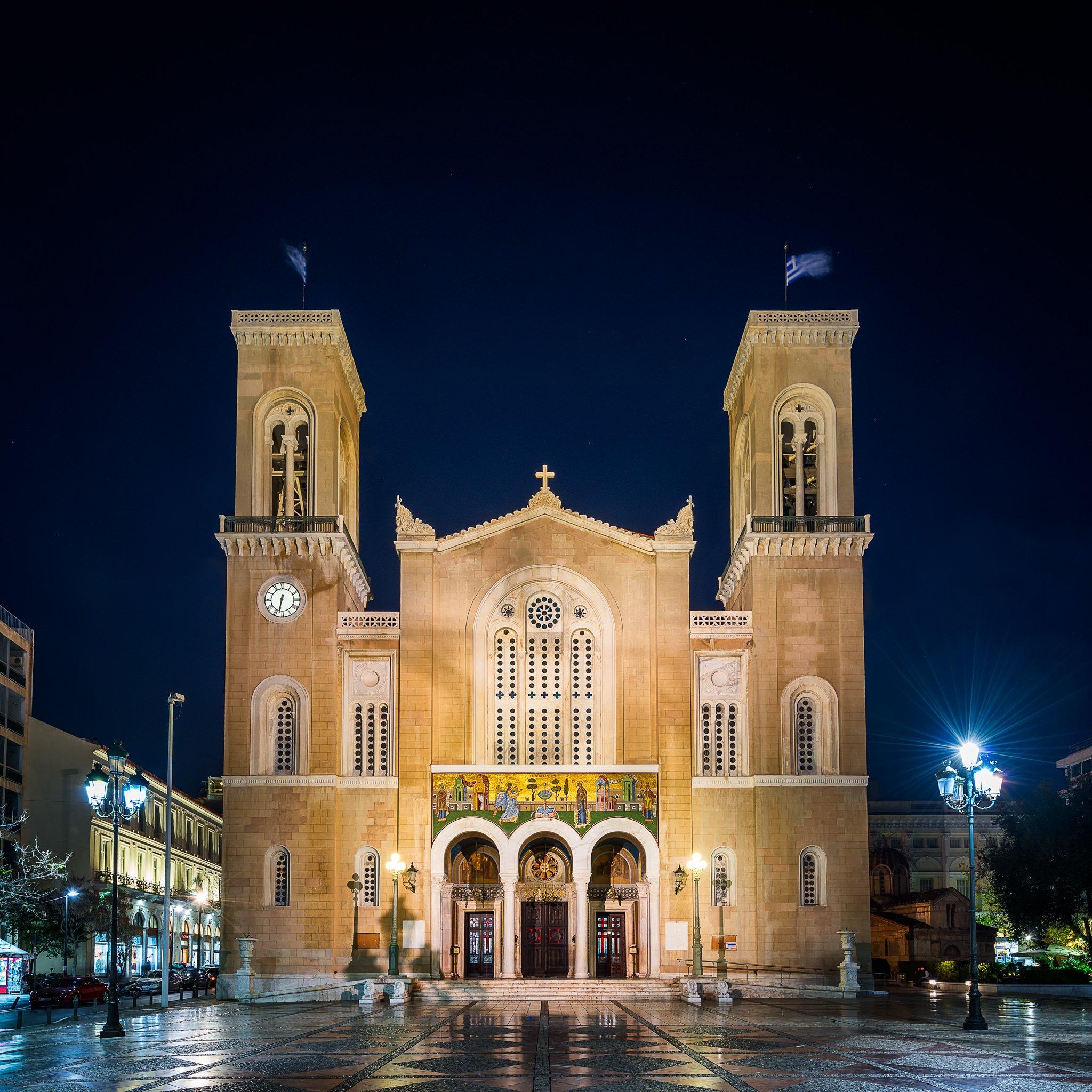 Ein wundervolles Bild der Kathedrale Mariä Verkündigung.