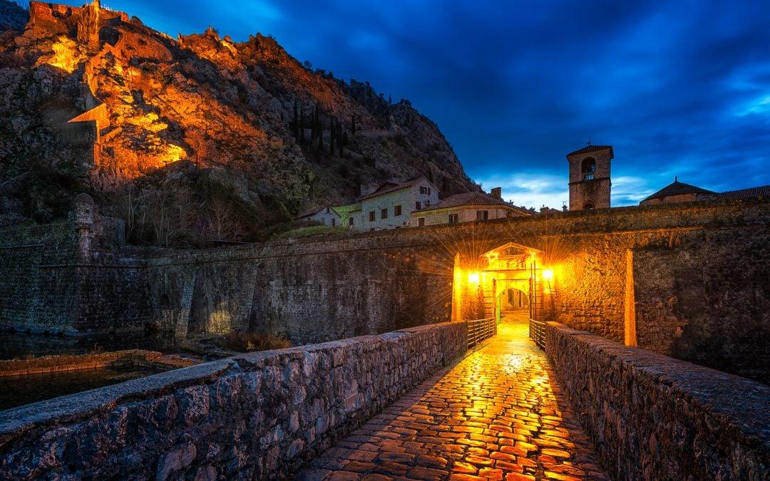 Kotor Northern Gate before sunrise | Kotor, Montenegro