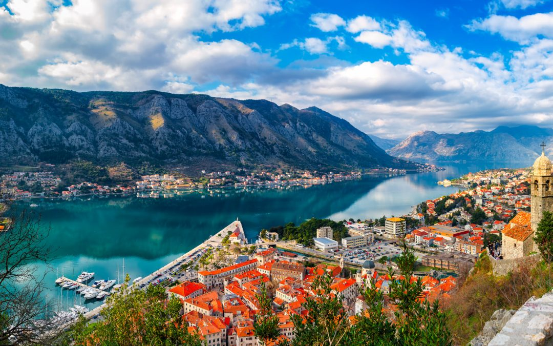 Kotor Bay, old town and Venetian Fortress