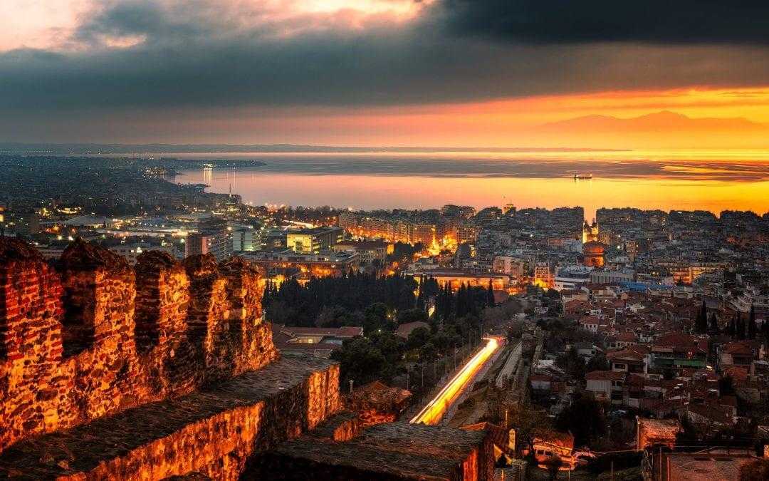 Sunset from the Eptapyrgio Castle | Thessaloniki, Greece