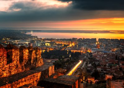 Sunset from the Eptapyrgio Castle | Thessaloniki, Greece