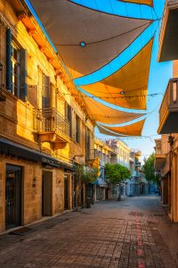 Ledra Street in Nicosia Cyprus is the center of shops and restaurants