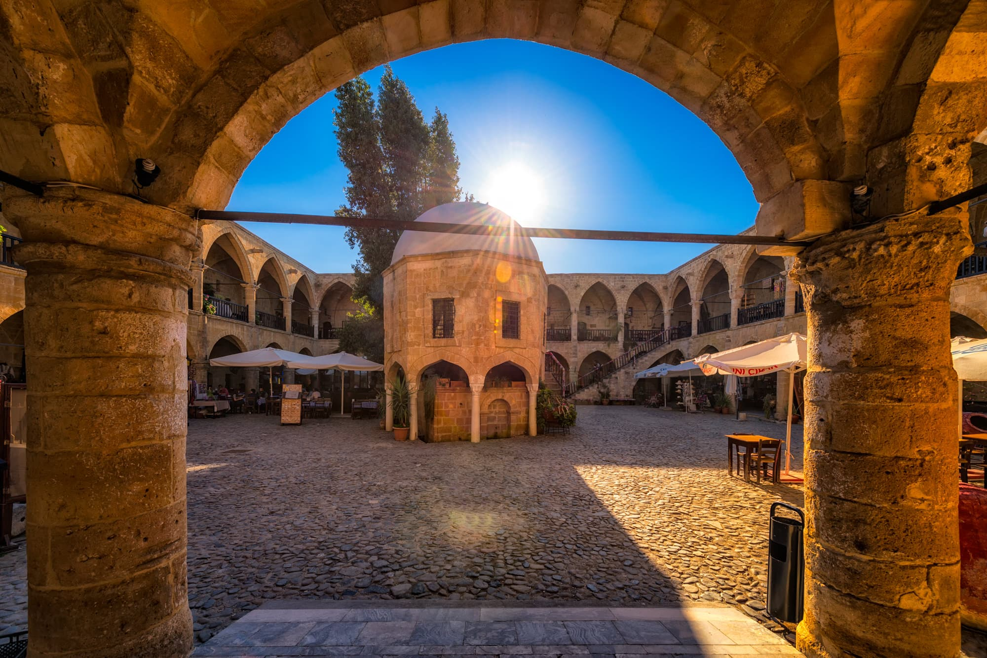 Büyük Han in the North of Nicosia on Cyprus was originally a hotel