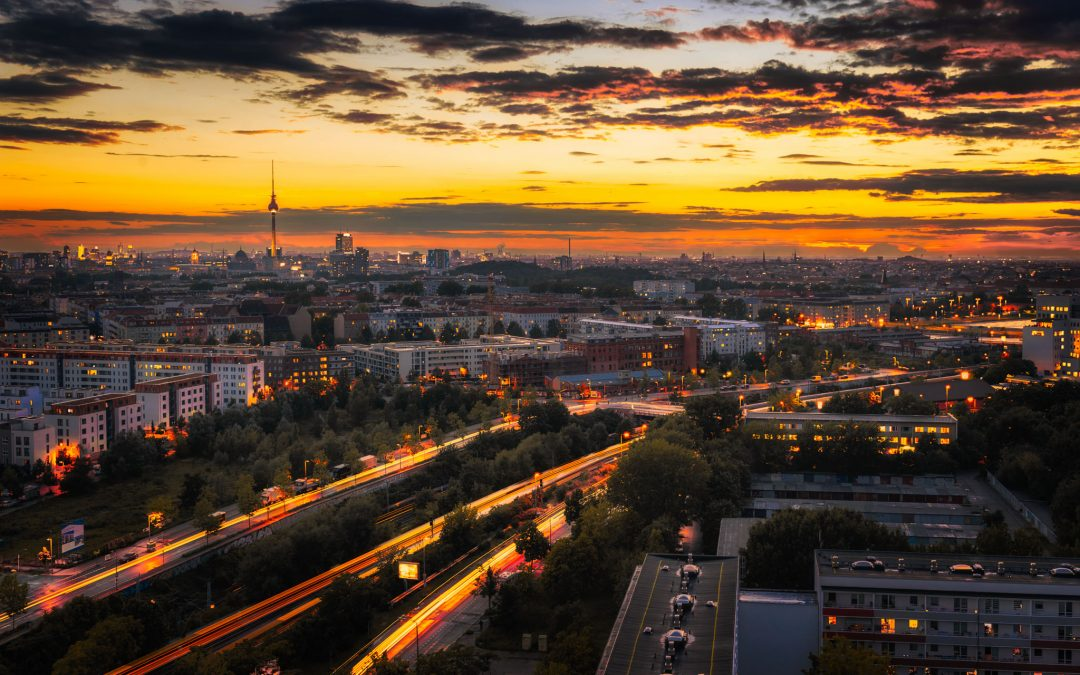 Herfstfoto van Berlijn en het Time Blend Effect | Duitsland