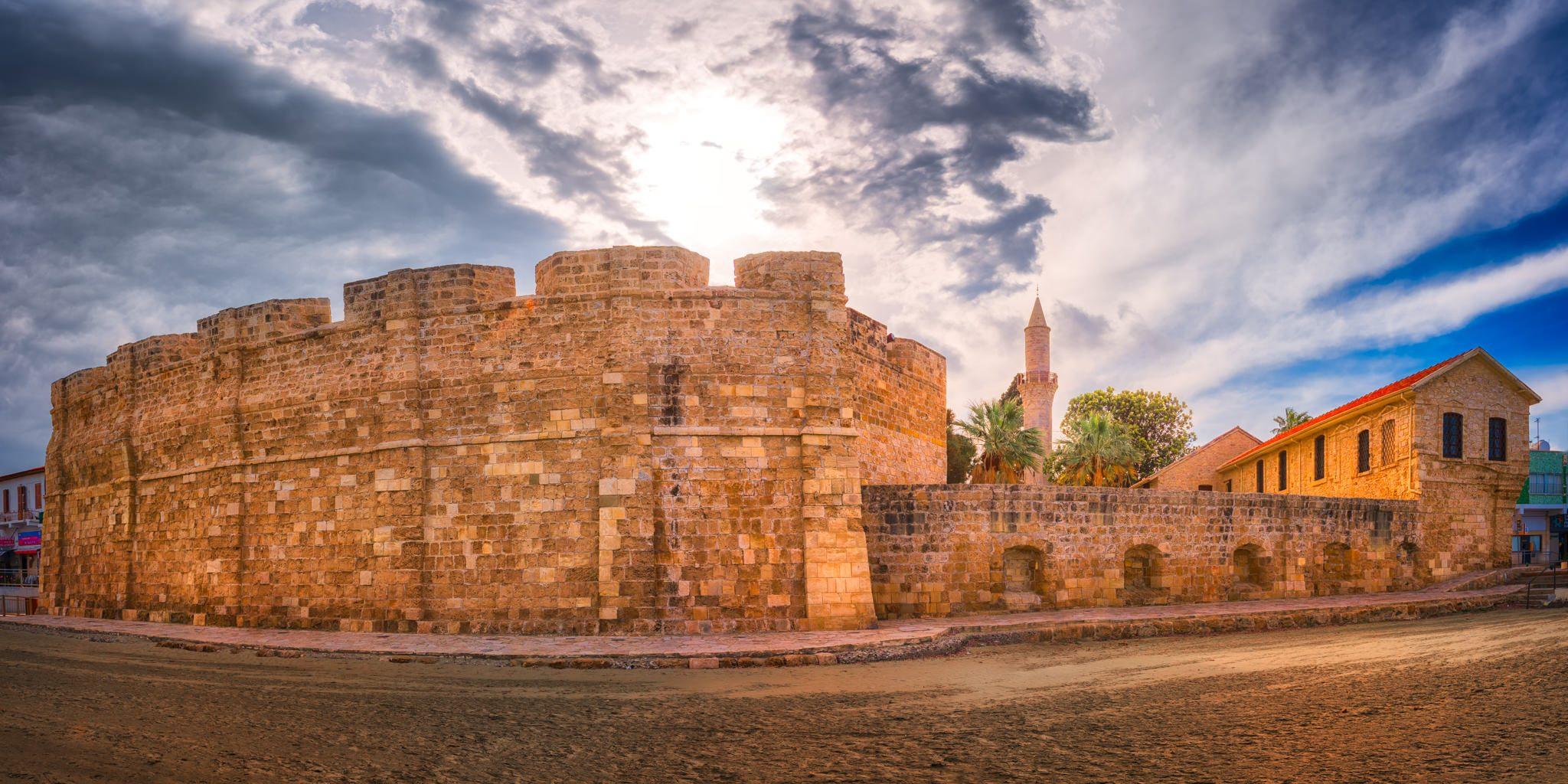 Cyprus – Larnaca Castle on the beach.