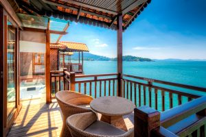 Chalet on the water in Berjaya resort in Langkawi Island