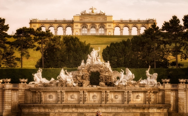 Glorietta in the Schönbrunn Palace Garden in Vienna, Austria