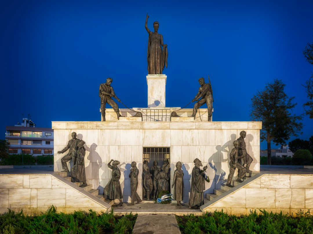 The Liberty Statue in Nicosia, Cyprus – EOKA Fighters releasing Cypriots from British rule.