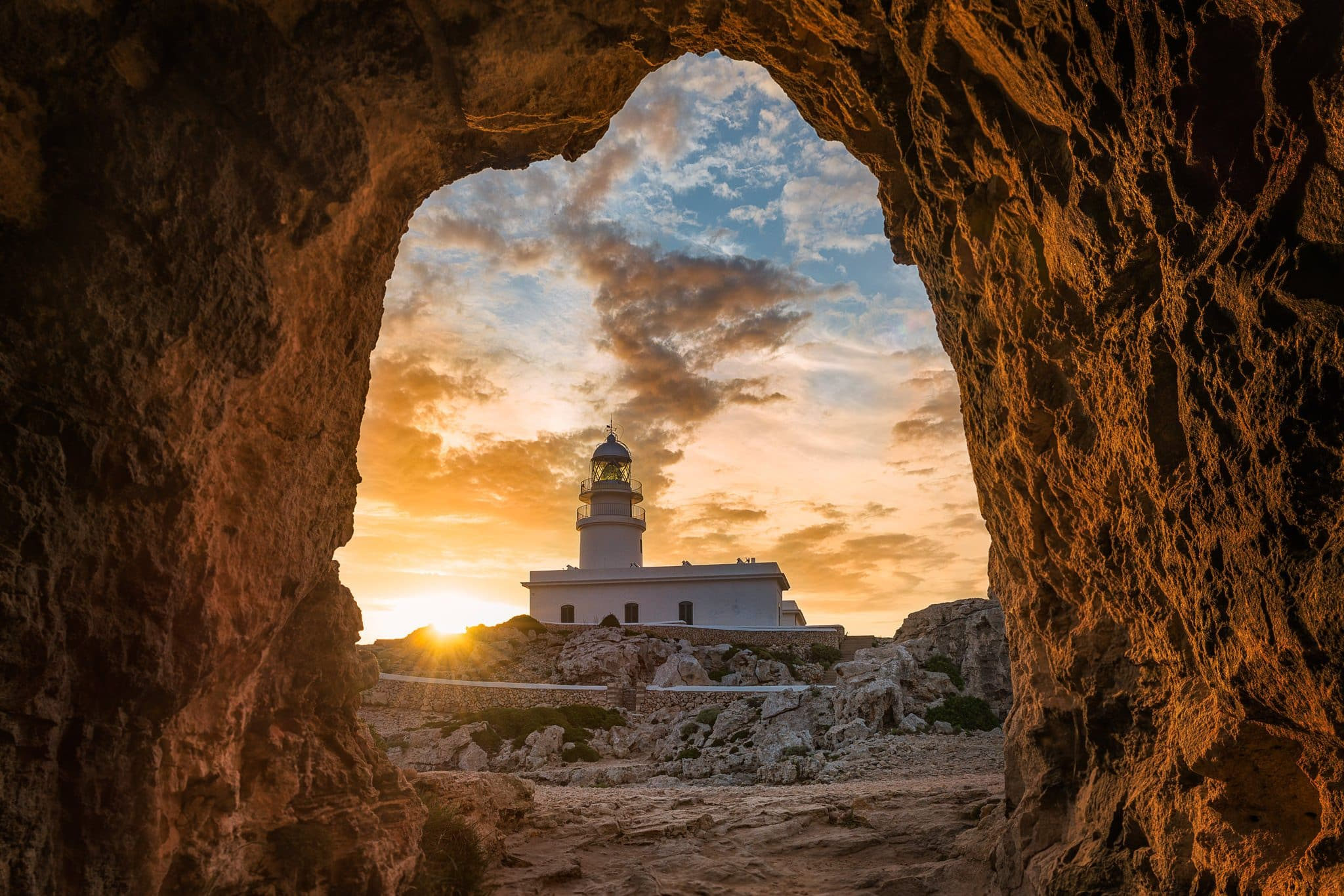 Menorca Lighthouse - Cap de Cavallería sunset shots on PhotoPills Camp.