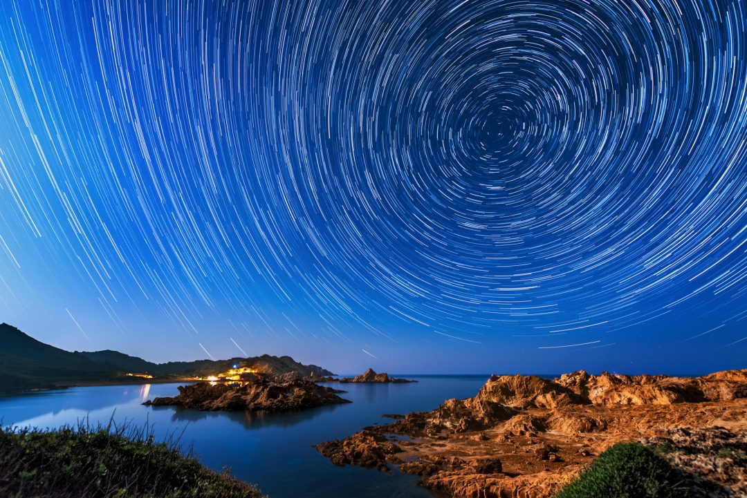 Menorca Star Trails while at PhotoPills Camp.