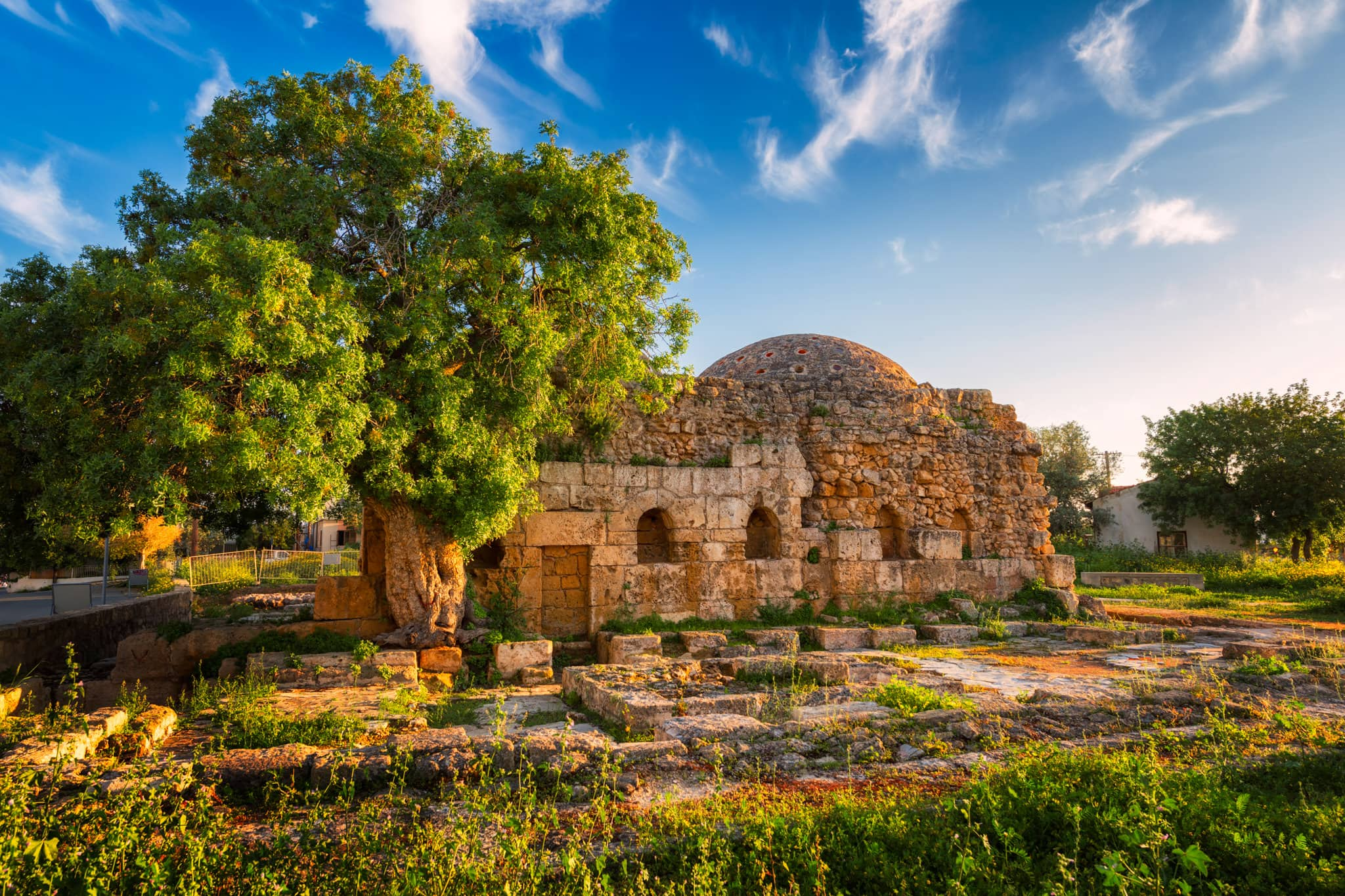 Ruins of The Ottoman Baths in Paphos, Cyprus.