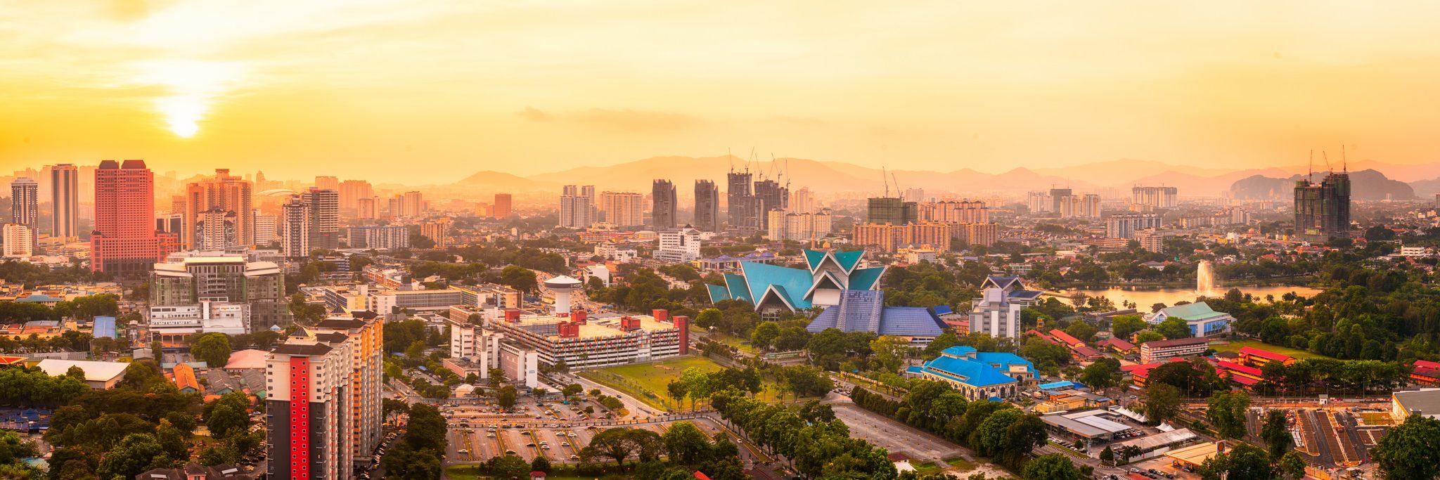 Kuala Lumpur Sunset Panorama, Malaysia.