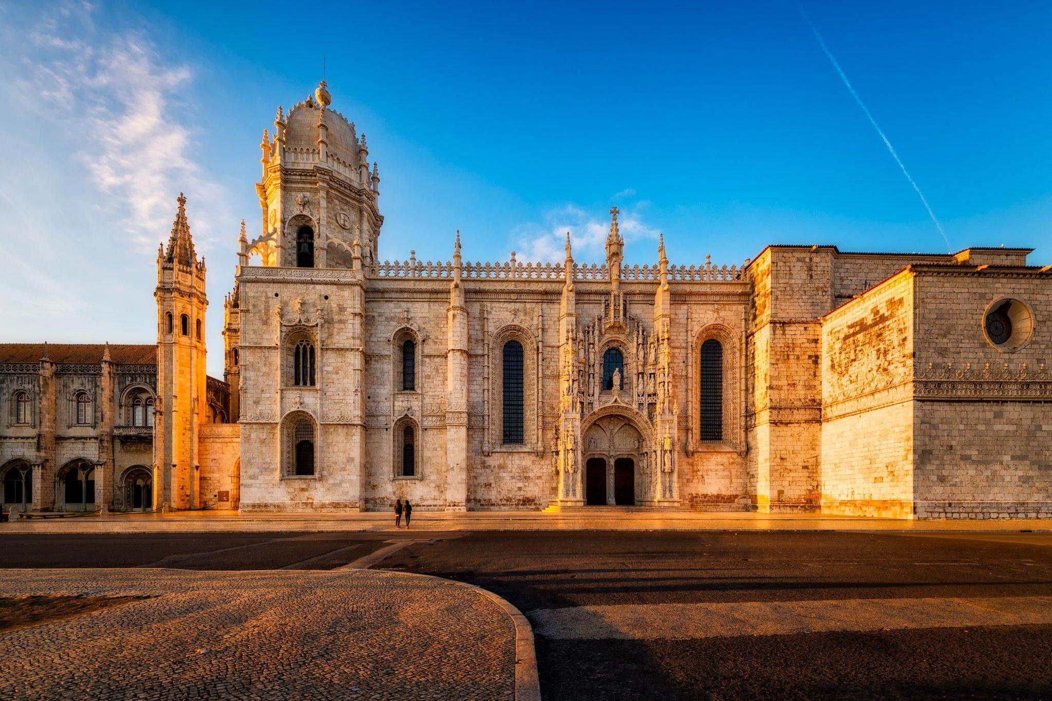 Jerónimos Kloster im Belém-Viertel von Lissabon.