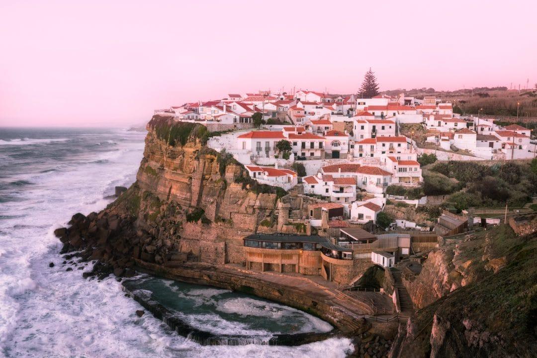 Views on Azenhas do Mar in Sintra, Portugal.