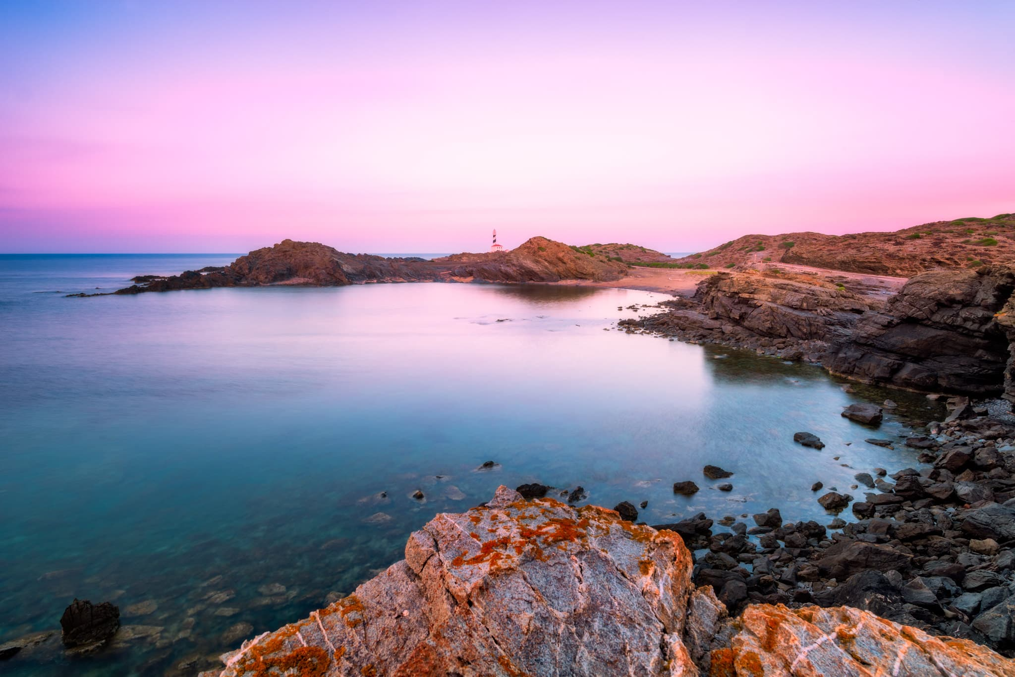 Menorca Cap de Farvàritx Parc Natural de S'Albufera des Grau, Spain.