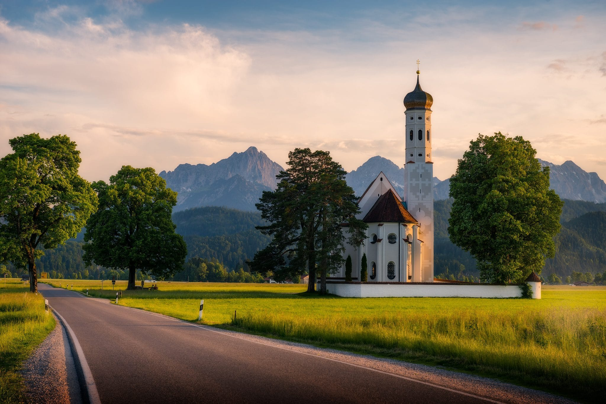 St. Coloman Church, Schwangau in Bavaria, Germany.
